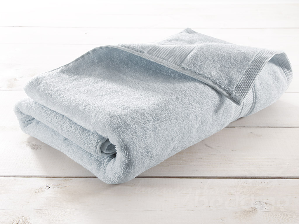 Sky Blue Bamboo Towels - Luxuriously plush, soft and absorbent