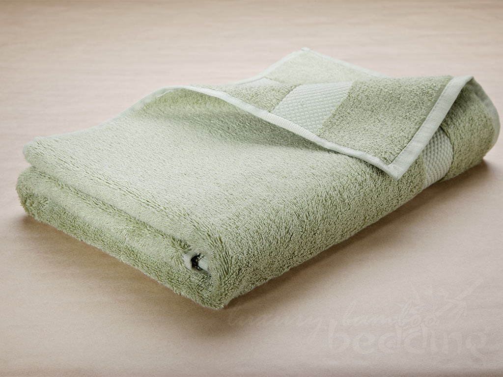 Moss (soft green) Bamboo Towels - Luxuriously plush, soft and absorbent