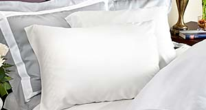 Classic 320 thread count white bamboo pillowcase from LuxuryBambooBedding.com