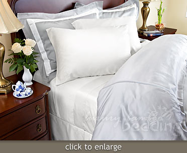 Bamboo Sheets - 320 Thread Count White - from LuxuryBambooBedding.com