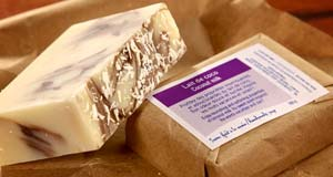 Wonderfully moisturizing Coconut Milk Soap with gentle rice bran oil emollients from Luxury Bamboo Bedding