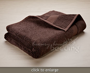 Chocolate Bamboo Towels from LuxuryBambooBedding.com